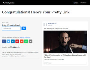 Pretty Links - New Pretty Link