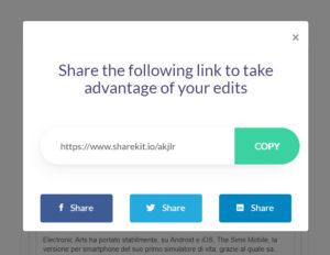 ShareKit URL
