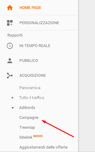 analytics adwords campagne