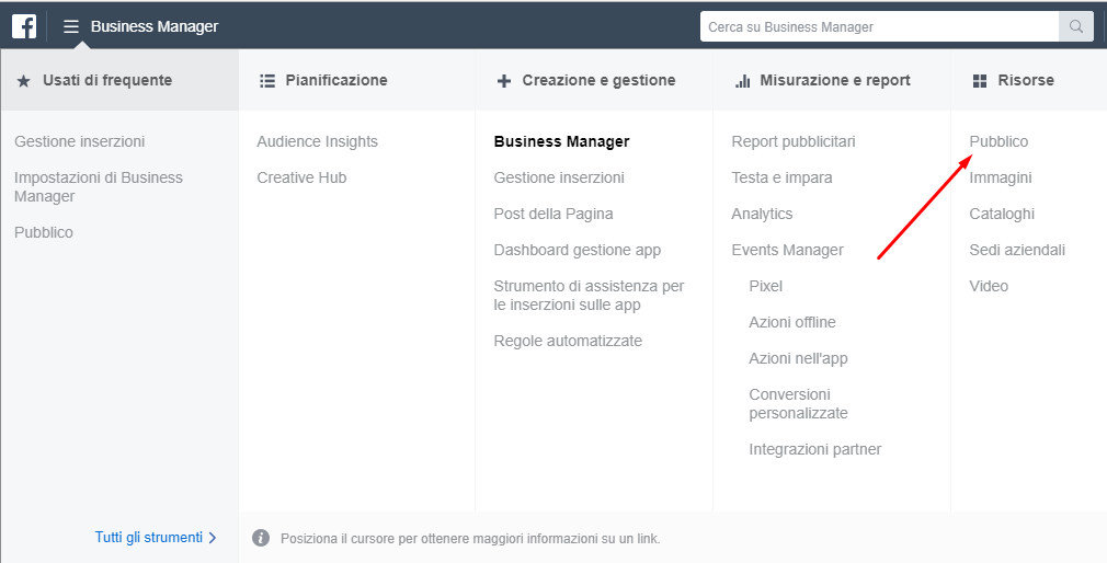 facebook business manager screen 1