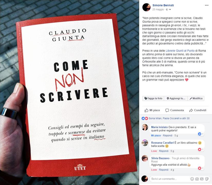 Come non scrivere - Claudio Giunta - UTET