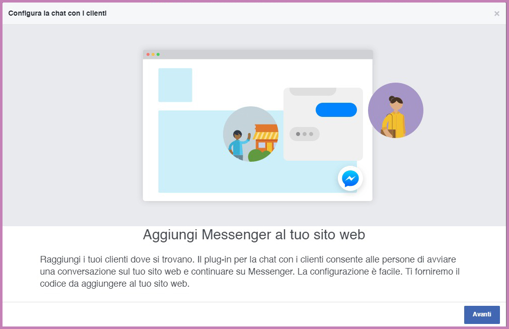 installare la Chat Facebook Messenger