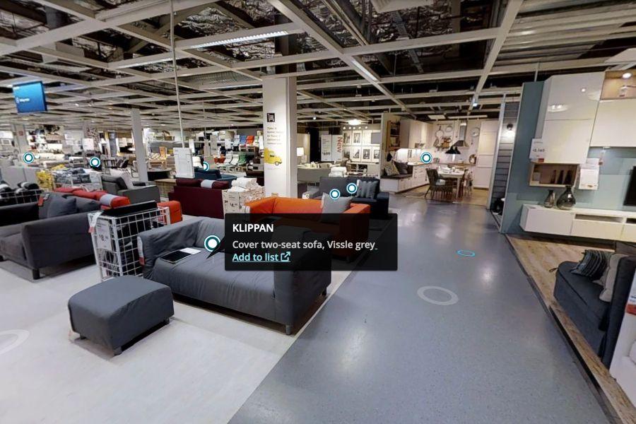 VR Advertising Ikea tour virtuale